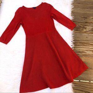 Talbots Quarter Sleeve Shift Knit Sweater Dress